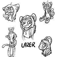 Lazer Sketch Page (Comish 1/3) by WolvesPoniesOhMy