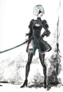 Scan2 NieR Automata by tsundere-power