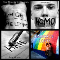 Erase the hate, EMBRACE Love by joana-mc