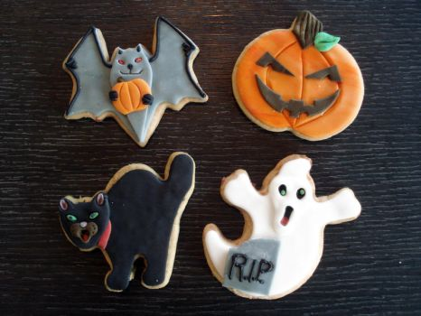 Halloween Cookies by Sliceofcake