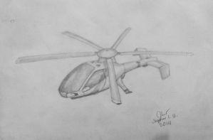 Futuristic Electric Helicopter by SammfeatBlueheart