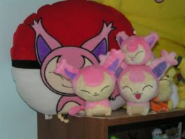 Mini Skitty Plush Collection by doryphish333