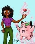 Lass Erika and her Clefairy by Sombraluz-Images