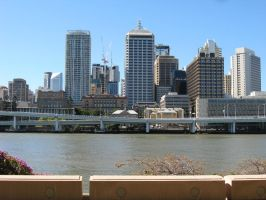 Brisbane Skyline by devilpenguin666