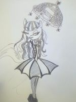 gothic lolita midnight sketch by midnightMun18