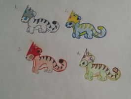 Elemental Tiger Adopts-Closed by totodile-fan