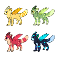 Dralicoon Adoptables -CLOSED- by Smushey