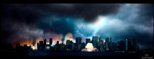 Destroyed city by Samuels-Graphics