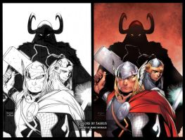 Thor by Mark Morales 2 by Saerus-Coloring