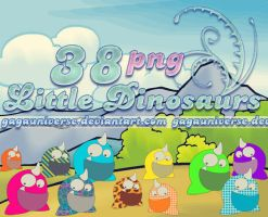 38 png Little Dinosaurs by gagauniverse