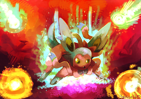Shiny Sylveon And the Meteor of Dragons by Phatmon66