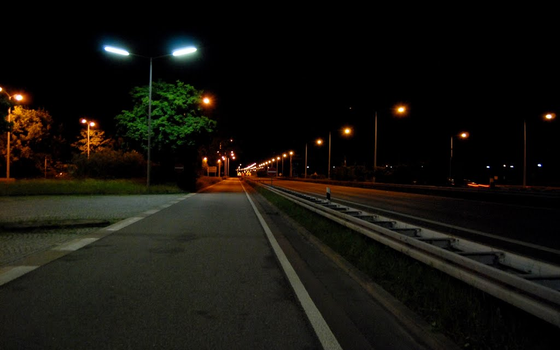 Highway Rest Area at night by 1Diamant