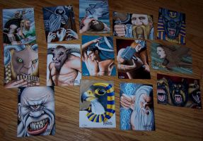 Classic Mythology Sketch Card Set by Dr-Horrible