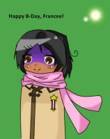 : HAPPEH B-DAY, FRANCEE : by Nimmiii-tan