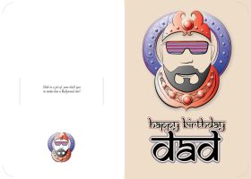 Father's day card design by shnbwmn