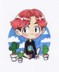 BaekHyun and Cactus by Jumpix