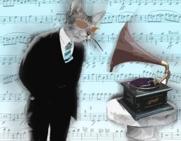 Cat man and his music v1 by cytherina