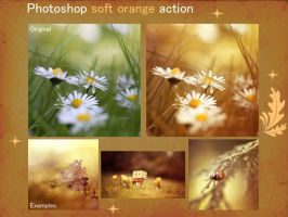 Photoshop soft orange action by aoao2