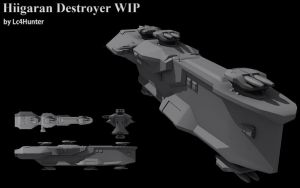 Hiigaran Destroyer WIP by Lc4Hunter