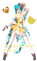 .:DTxPDF Orange Blossom Miku + DL:. by Sushi-Kittie
