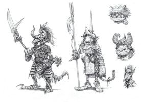 On the Shoulders of Heroes- Goblins by eoghankerrigan