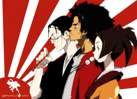 Samurai Champloo X3 by KharmaKing