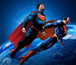 New 52 and Earth Zero Superman by WOLFBLADE111