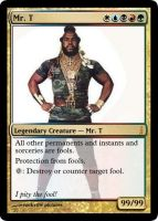 Mr T magic card by rockvillepictures