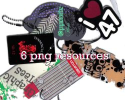 6 png etiquettes by Letterbomb21