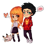 Chibi couple commission by Donnis