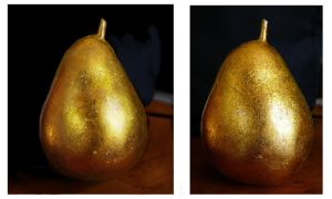 Golden pear paint study by Fallimar