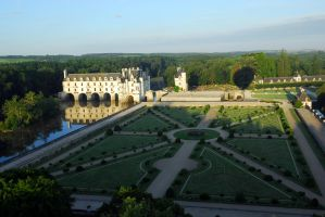 Chenonceau from a balloon by Austinii