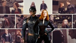 Captain America and Black Widow Wallpaper by maddieross96