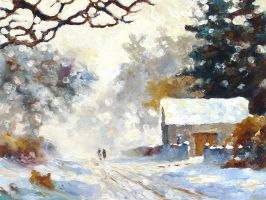 Country Lane Deep in Winter by litka