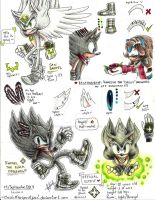 + Rafael the black hedgehog + OFFICIAL REFERENCE by ClassicMariposAzul