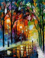 Winter park oil painting on canvas by L.Afremov by Leonidafremov