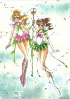 C: Sailor Io and Eternal Sailor Jupiter by Toto-the-cat