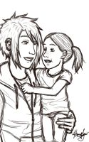 Jude and Baby Charlotte by Marlin-Rae
