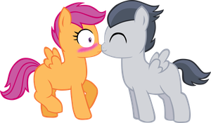 Scootaloo x Rumble Nuzzle by LudiculousPegasus