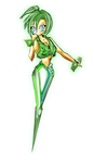 Green Emerald Shard-Buttons by Sunrise-oasis
