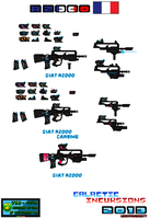Concept Weapons Giat R2000 For SSMU Pixel Art by Luckymarine577