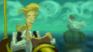 gameSketch 34: Monkey Island by ixaarii