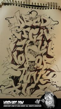 Graffiti alphabet by KreDy