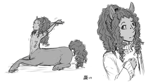 Centaur Doodles by SilverRacoon