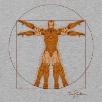 Vitruvian Iron! - T shirt by salvatrane