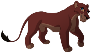 Female Lioness Lines by kohu-arts