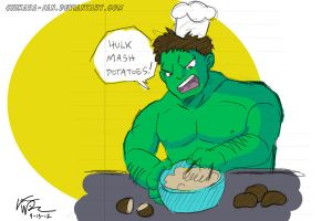 Hulk Mash Potatoes by LauraDoodles
