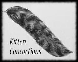 Monochromatic Tail (FOR SALE) by KittenConcoctions