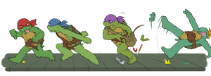 TMNT-Running by tmask01