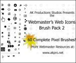 Web Icons Brush Pack 2 by AK-Productions